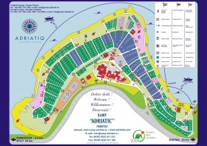 Camp Adriatic Primosten map